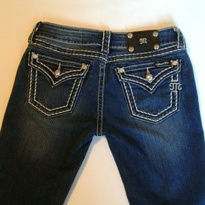 Miss Me Flap Pocket Boot Cut Jeans Size 28